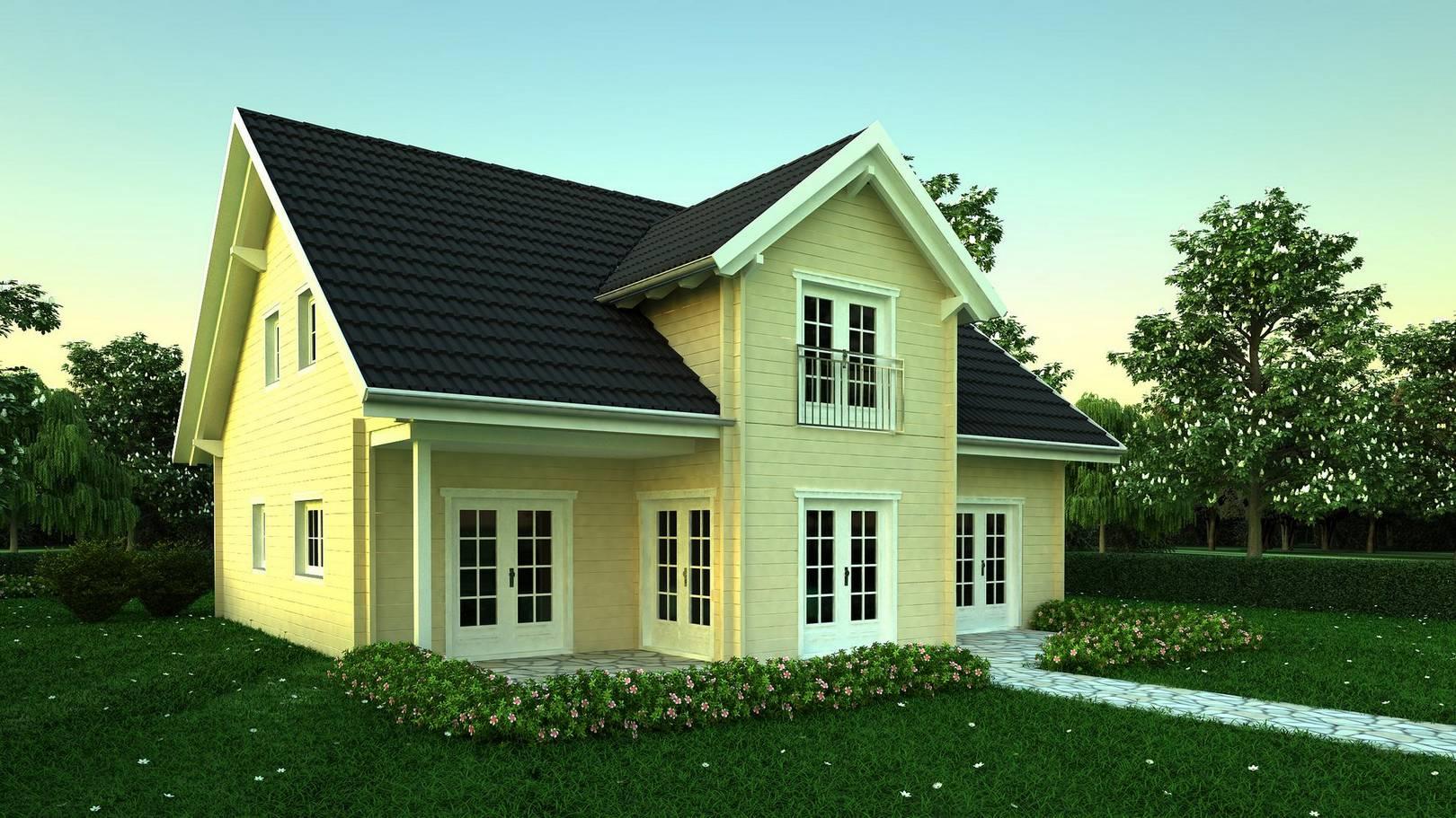 wohnhaus kaufen holzwohnhaus. Black Bedroom Furniture Sets. Home Design Ideas