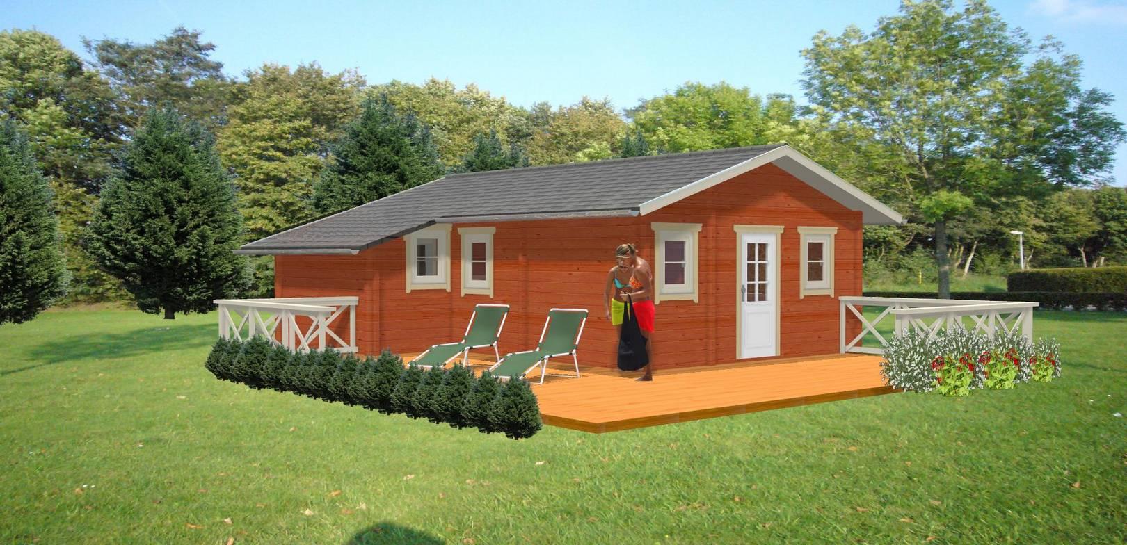 ferienhaus satu im blockhaus stil dr jeschke holzbau. Black Bedroom Furniture Sets. Home Design Ideas