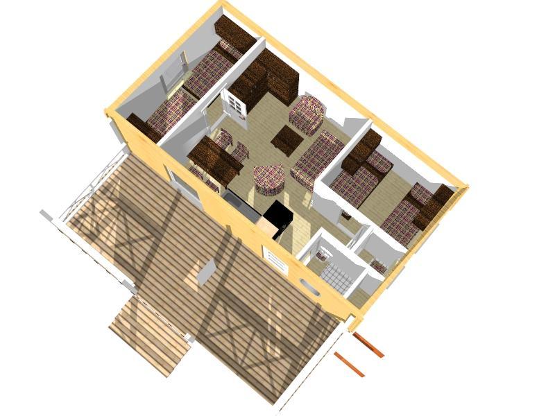 Mobilheim gro lili 4 5 x 8 30 m bausatz aus holz dr for Holz wohncontainer