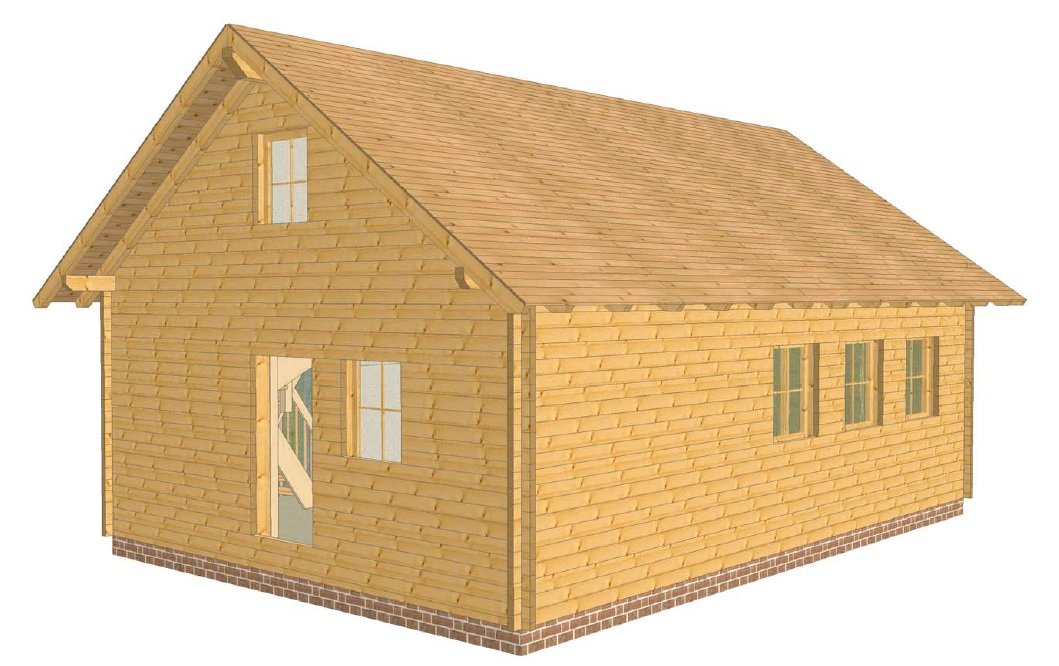 Ein neues Holzhaus entsteht in Ostfriesland