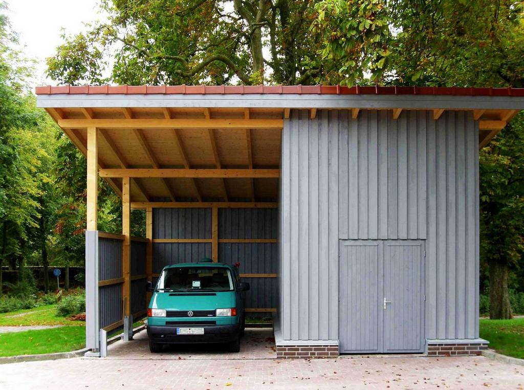 Moderne holzgarage  Holzgarage nach Maß - Holzgaragen nach Maß