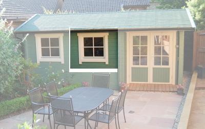 Einzelfenster quadratisch  Premium 59 x 66 cm Holzfenster
