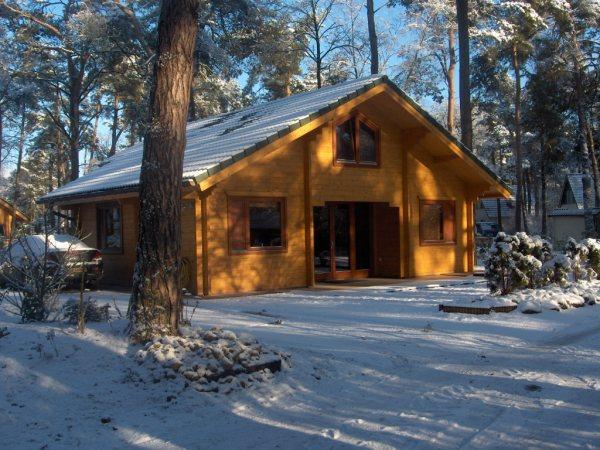 Ein Ferienholzhaus für die Weihnachtszeit
