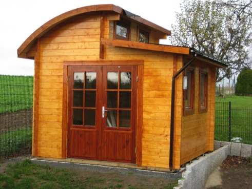 Gartenhaus Sylvi – Blockhaus Design-Gartenhaus