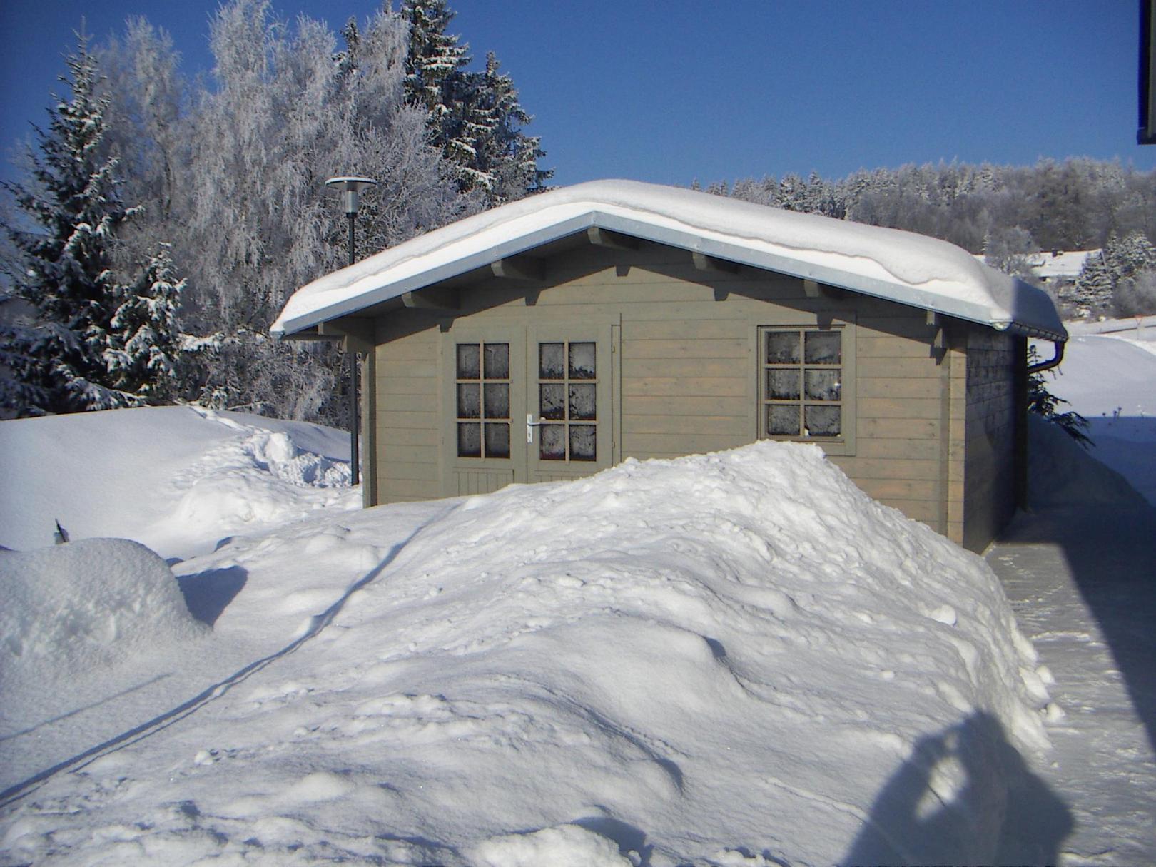 Gartenhaus Bob Im Schnee