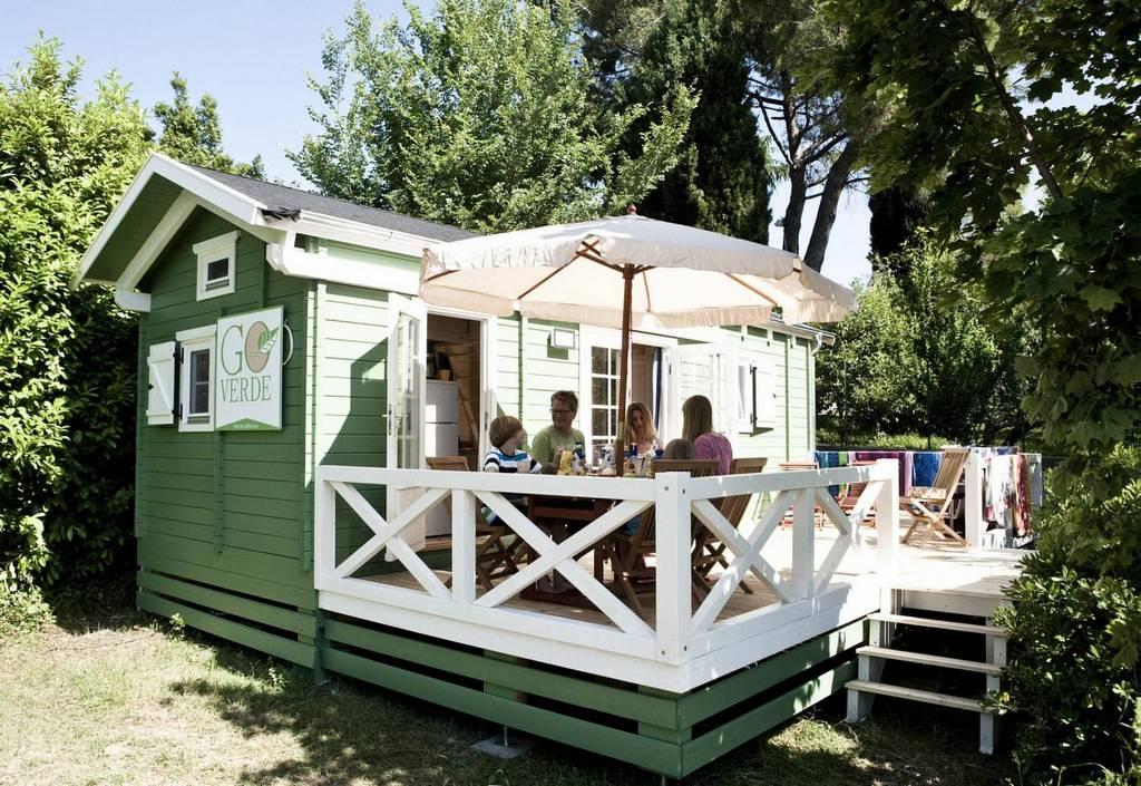 Ein Mobilheim in Italien