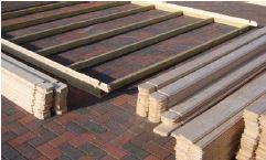 Blockhaus selber bauen - Lagerhölzer / Dielen