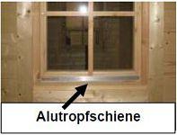 Blockhaus bauen - Premiumline-Tenster und Türen mit Tropfschiene