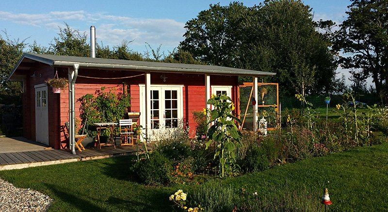 Mediterranes Gartenhaus als Sonderanfertigung